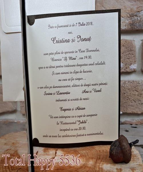 Invitatie de nunta cod 5536 din Catalogul Concept