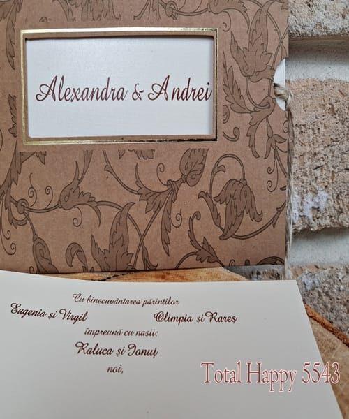 Invitatie de nunta cod 5543 din Catalogul Concept