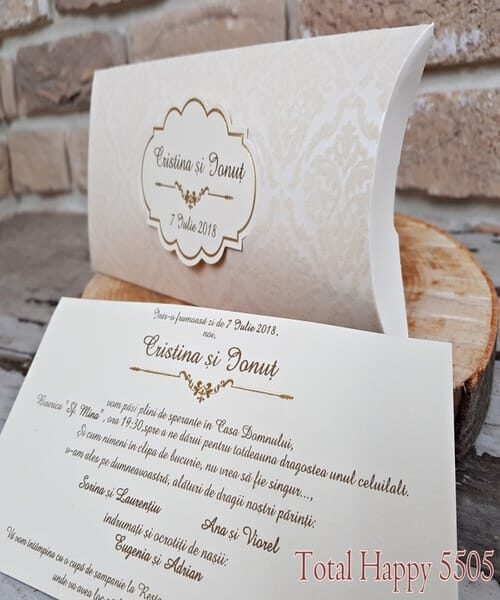 Invitatie de nunta cod 5505 din Catalogul Concept