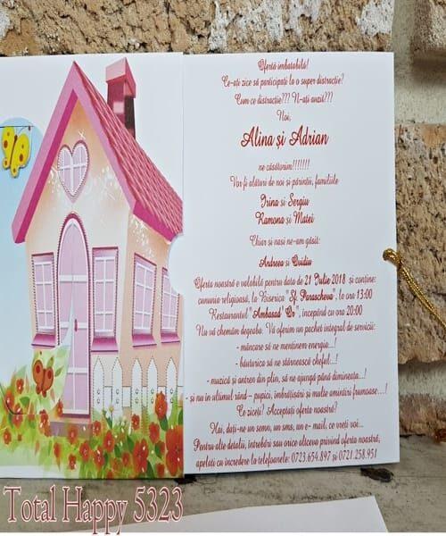 Invitatie de nunta cod 5323 din Catalogul Concept