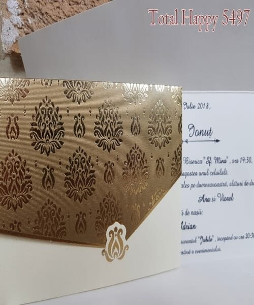 Invitatie de nunta cod 5497 din Catalogul Concept