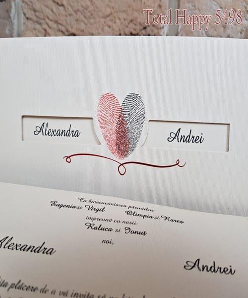 Invitatie de nunta cod 5498 din Catalogul Concept