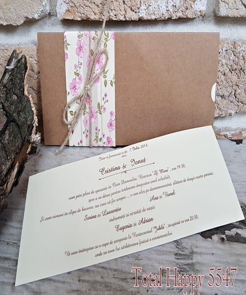 Invitatie de nunta cod 5547 din Catalogul Concept