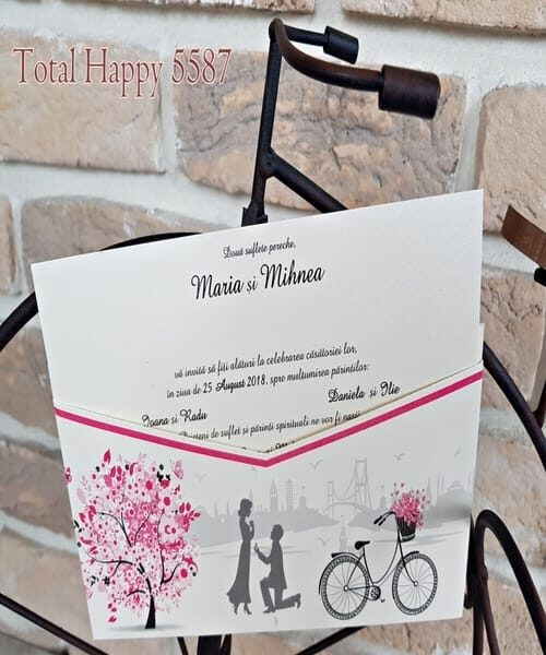 Invitatie de nunta cod 5587 din Catalogul Concept