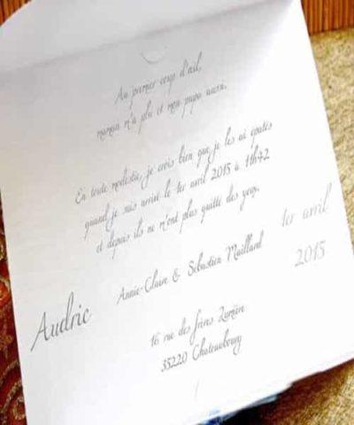 Invitatie de botez cod 15309 din Catalogul Deluxe Botez