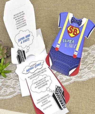 Invitatie de botez cod 15609 din Catalogul Deluxe Botez