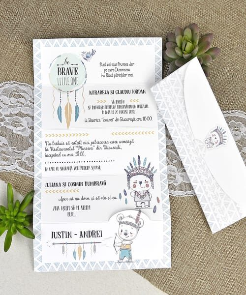 Invitatie de botez cod 15610 din Catalogul Deluxe Botez