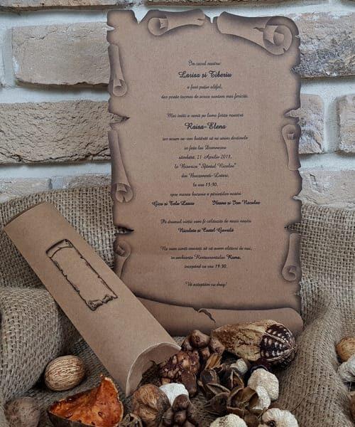 Invitatie de nunta cod 2468 din Catalogul Popular