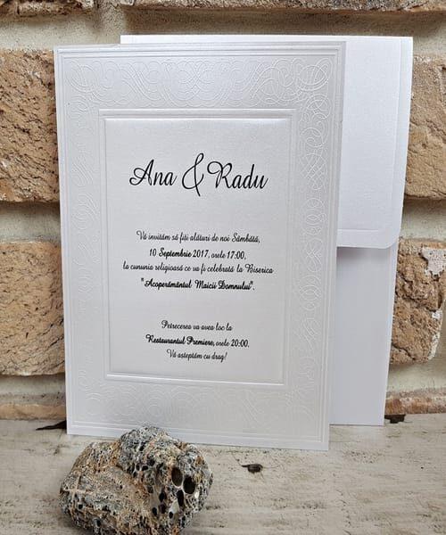 Invitatie de nunta cod 2566 din Catalogul Popular