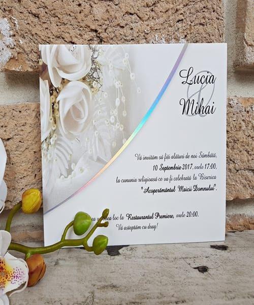 Invitatie de nunta cod 2637 din Catalogul Popular