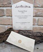Invitatie de nunta cod 2663 din Catalogul Popular