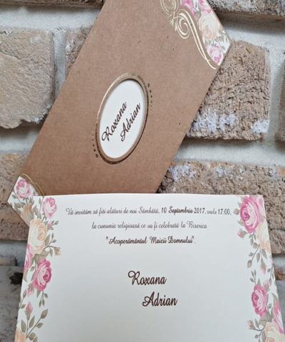 Invitatie de nunta cod 2665 din Catalogul Popular