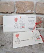 Invitatie de nunta cod 2667 din Catalogul Popular