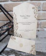 Invitatie de nunta cod 2668 din Catalogul Popular