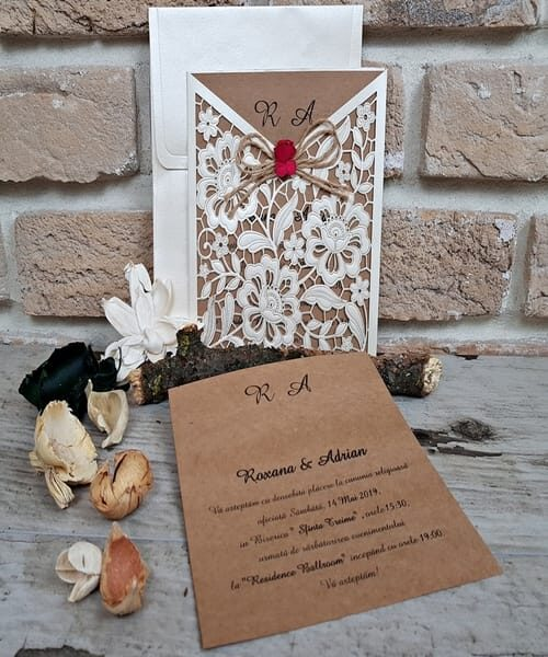 Invitatie de nunta cod 2676 din Catalogul Popular