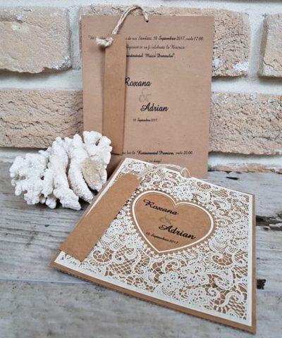 Invitatie de nunta cod 2686 din Catalogul Popular