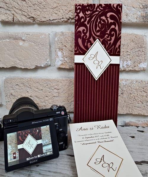 Invitatie de nunta cod 2696 din Catalogul Popular