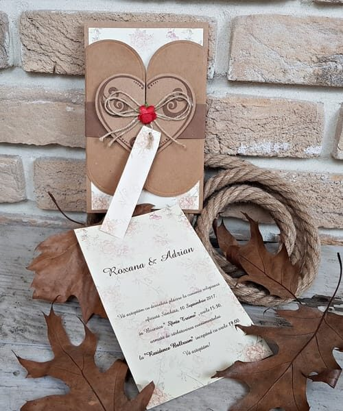 Invitatie de nunta cod 2699 din Catalogul Popular