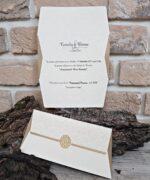 Invitatie de nunta cod 2703 din Catalogul Popular