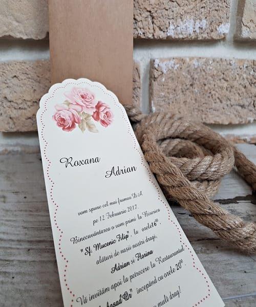 Invitatie de nunta cod 2709 din Catalogul Popular