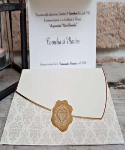 Invitatie de nunta cod 2715 din Catalogul Popular