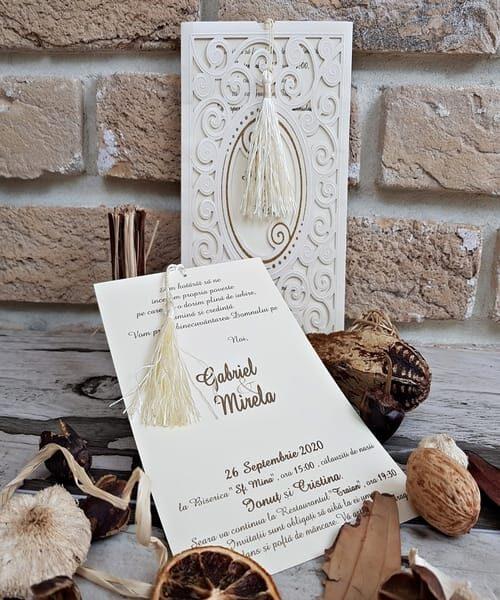 Invitatie de nunta cod 2734 din Catalogul Popular