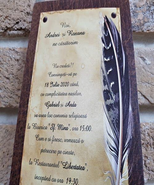 Invitatie de nunta cod 2740 din Catalogul Popular