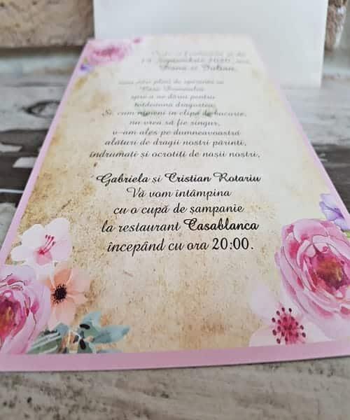 Invitatie de nunta cod 2746 din Catalogul Popular