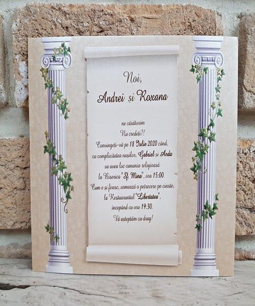 Invitatie de nunta cod 2749 din Catalogul Popular
