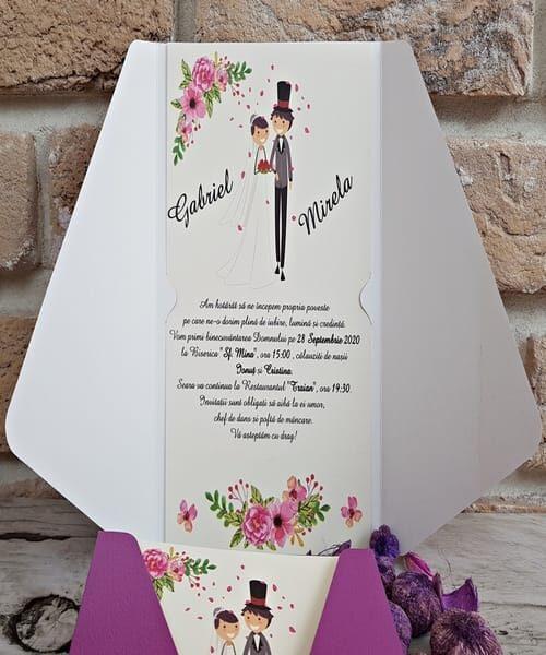 Invitatie de nunta cod 2752 din Catalogul Popular
