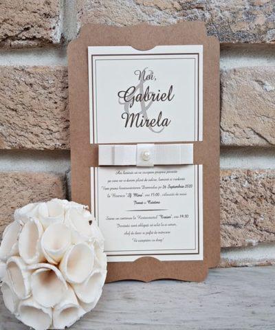 Invitatie de nunta cod 2764 din Catalogul Popular