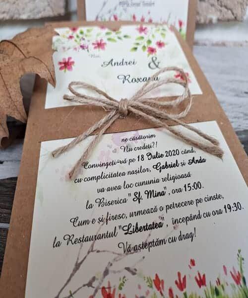 Invitatie de nunta cod 2766 din Catalogul Popular