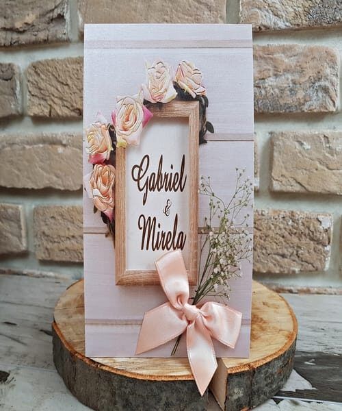 Invitatie de nunta cod 2768 din Catalogul Popular
