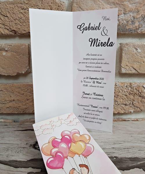 Invitatie de nunta cod 2769 din Catalogul Popular