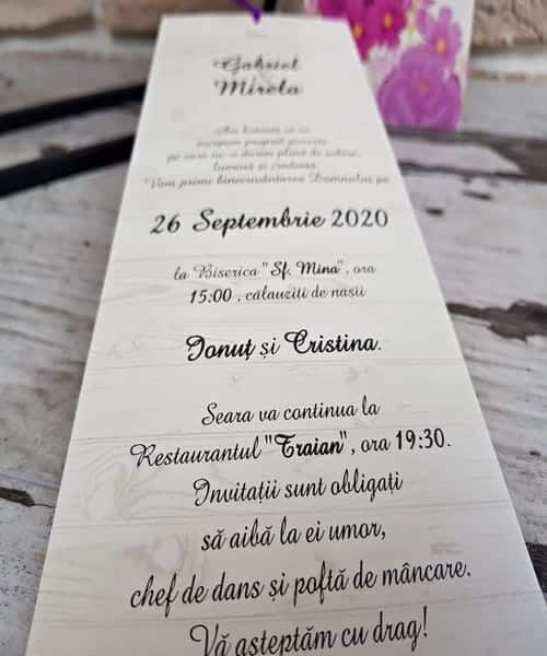 Invitatie de nunta cod 2782 din Catalogul Popular