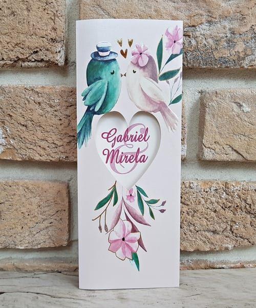 Invitatie de nunta cod 2787 din Catalogul Popular