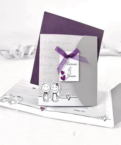 Invitatie de nunta cod 35641 din Catalogul Alice