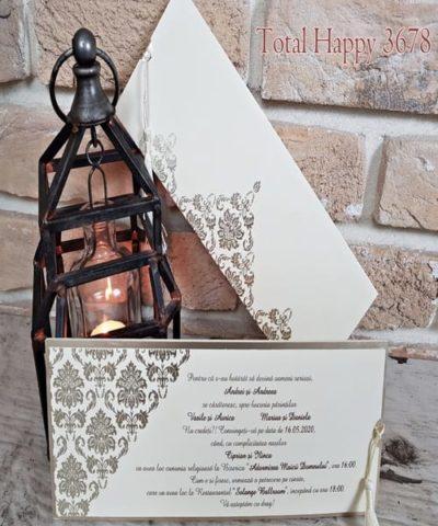 Invitatie de nunta cod 3678 din Catalogul Sedef