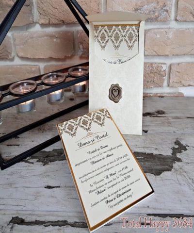Invitatie de nunta cod 3684 din Catalogul Sedef