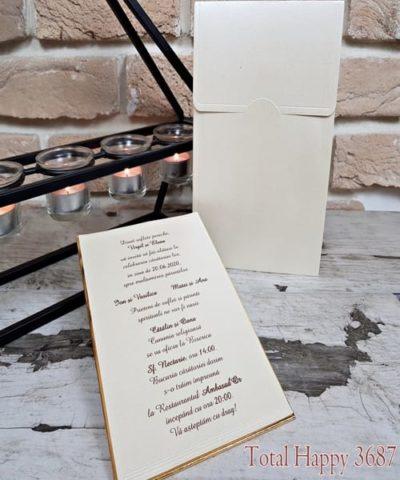 Invitatie de nunta cod 3687 din Catalogul Sedef