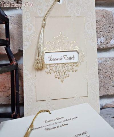 Invitatie de nunta cod 3706 din Catalogul Sedef