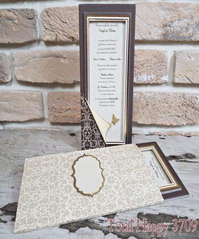 Invitatie de nunta cod 3709 din Catalogul Sedef