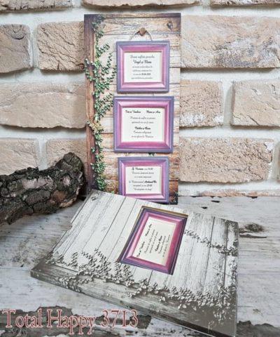 Invitatie de nunta cod 3713 din Catalogul Sedef