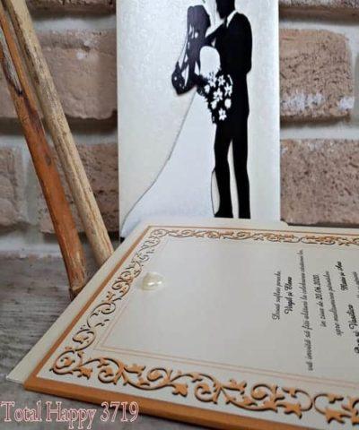 Invitatie de nunta cod 3719 din Catalogul Sedef
