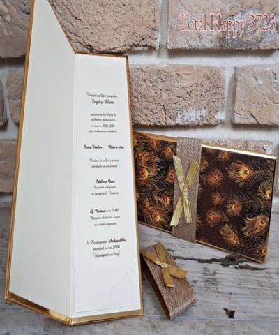 Invitatie de nunta cod 3723 din Catalogul Sedef