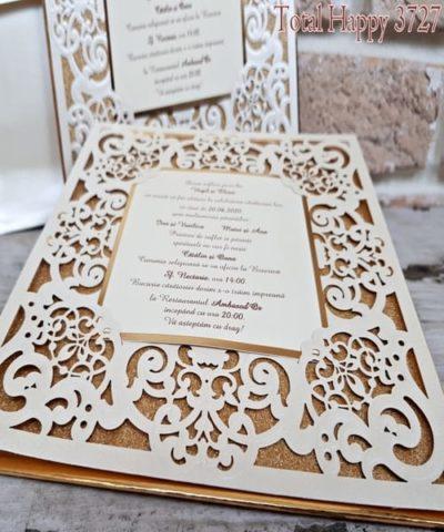 Invitatie de nunta cod 3727 din Catalogul Sedef