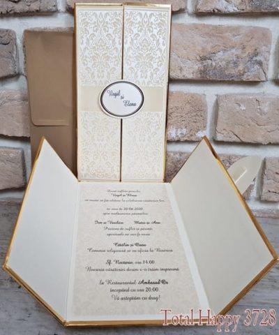 Invitatie de nunta cod 3728 din Catalogul Sedef