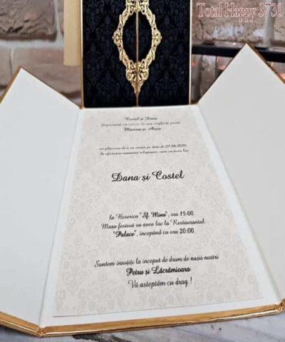 Invitatie de nunta cod 3730 din Catalogul Sedef