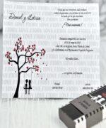 Invitatie de nunta cod 39116 din Catalogul Alice