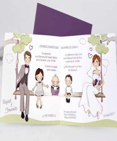 Invitatie de nunta cod 39124 din Catalogul Alice